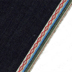 10,65 oz Jacquard Edge 100% coton tissé Tissu denim Jeans W00111V