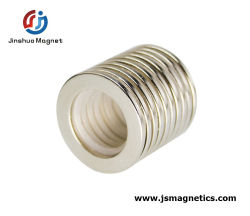 حلقة نصف قطرية مخصصة على شكل مغناطيس دائم متقاطع مع ندفيب الشركة المصنعة لحلقة في الصين