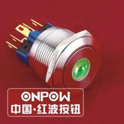 Onpow 22mm en acier inoxydable DOT Interrupteur à bouton-poussoir éclairé (GQ22-11E/S) (Dia. 22mm) (CE, CCC, RoHS, REECH)