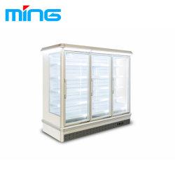 Barato preço frigorífico supermercado de produtos congelados e congeladores de Exibição da porta de vidro