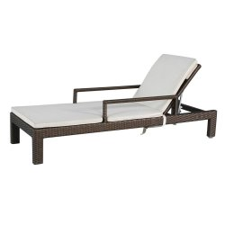 Muebles de exterior de la piscina de ratán tumbona con brazos Silla de playa