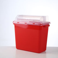 [وست] خانة بلاستيكيّة طبّيّ 5 جالون صندوق صدّ تخزين يقفل خزانة 10 فورمالين تصرّف طرف حادّ وعاء صندوق جدار جبل