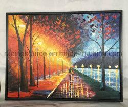 30x40 pouces couteau d'art encadrée de la peinture huile sur toile paysage