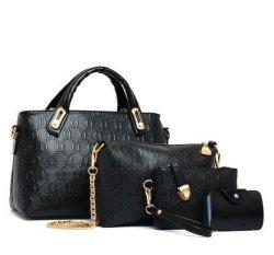 Sac Litthing 4PCS Femme Set Fashion femmes Four-Piece sac à main et sac à bandoulière Sac fourre-tout sac Messenger Bag Drop Shipping