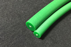 PU Correa redonda redonda de uretano Blet Correa redonda de poliuretano - 85una superficie rugosa de color verde