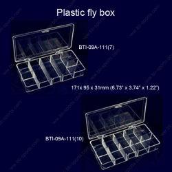 卸し売り透過7つか10のコンパートメントターミナル釣り道具ボックスフライフィッシングのホックボックスはえボックス09A-111