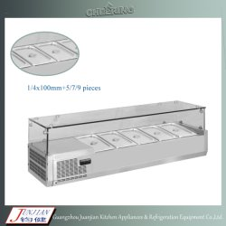 acier inoxydable 1.2m1.5m2.0m Hot&froid vitrine de réfrigération des aliments