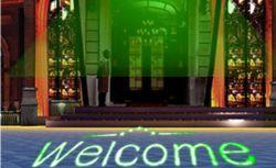 OEMは高い明るさの戸口の緑レーザーホテルKTVのディスコのための歓迎されたライトプロジェクターをカスタマイズする