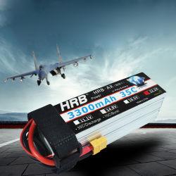 Hrb 3300mAh Lipo bateria 14,8 V 35c T Deans 14,8 V 18,5V 22,2 V 3,7 V 4s 5s 6s para aviões carros Drone Fpv Peças RC