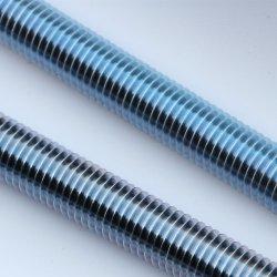 Plaqué zinc la tige filetée en acier au carbone les vis de fixations à vis à filetage complet DIN975 Gr. 4,8 8,8