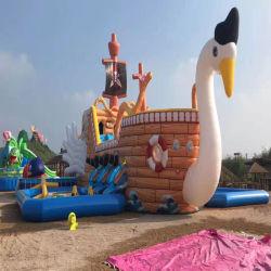 O Parque Aquático inflável de alta qualidade Pool inflável com deslize Escorrega inflável com Piscina