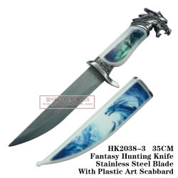 Dragon Cuchillos de caza Camping Cuchillo táctico de cuchillo de supervivencia de 34cm.