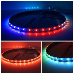 Il nuovo APP ha gestito gli indicatori luminosi impermeabili illuminati anello della rotella variabili colore di RGB LED per l'automobile fuori strada del camion