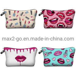 3D цифровой печати Sexy губы хранения косметический мешок подарков промо-акции
