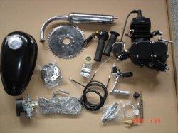 80cc moto juegos de motor 2 tiempos Motor Motor de gasolina del motor de pintura negra de los kits para bicicletas motorizadas