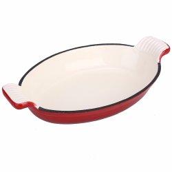 Vaschetta di cottura a forma di smaltata dei pesci della vaschetta dell'arrosto del ghisa