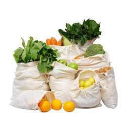 Просто Eco сертифицированных органических продуктов мешки Muslin многократного использования ткани хлопчатобумажной ткани сумку с кулиской торгового производства хлеба мешок