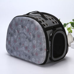 Pet saliente Mochila Bolsa de transporte de mercancías para gatos Pet portátil Chat saco transpirable lavable de transporte de la escalera para perros