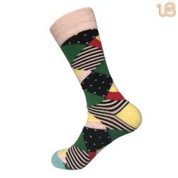 Pente para homens vestido causal de algodão Sock Feliz Sock