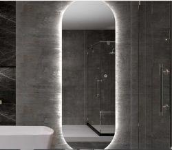 Badezimmer Laminierte Wand Silber Dekorative Eitelkeit Full Length Spiegelglas