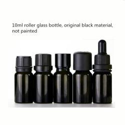 5 ml 10ml 15ml 20ml 30ml 50ml 100ml DIY noir en verre bouteille vide d'huile essentielle, verre de haute qualité vide flacon compte-gouttes de liquide