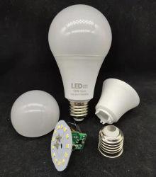 Distributor Rohmaterial 3 W 5 W 7 W 9 W 12 W 15 W 18 W 20 W E27 B22 LED-Glühbirnen Teile Billig Preis SKD-Hersteller