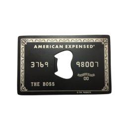 カスタム新製品ビジネスクレジットカードステンレススチールボトルオープナー プロモーションギフト用