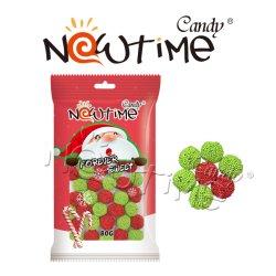 Sfere variopinte della gelatina di sapore della frutta di NTJ18906 Santa in sacchetto