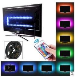 LED TVのバックライトRGB LEDのストリップはUSB TVのコンピュータの装飾ライトLED滑走路端燈をつける