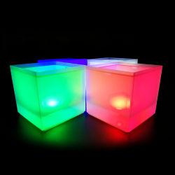 Plastica chiara acrilica impermeabile della benna di ghiaccio della radura LED della benna di vino di PS del prodotto nuovo