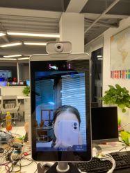 Binoculares de 8 pulgadas el dispositivo de asistencia biométrico de reconocimiento facial