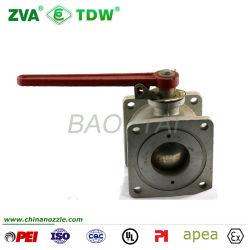 Válvula de bola de descarga de alta calidad con cuadrado