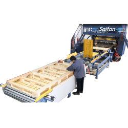 De volledige Automatische Houten EUR Machine van de Pallet van het Blok Hydraulische Nagelende