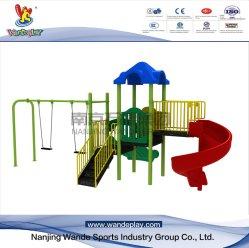 Парк развлечений Wandeplay детей игровая площадка для установки вне помещений оборудование с помощью поворотного механизма