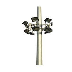 セリウムの証明書を持つ電流を通された鋼鉄または金属の通りの高いマストの照明か街灯柱