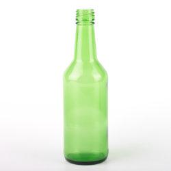 360ml Coreano Cor Verde Vidro Soju Garrafa de licor negro