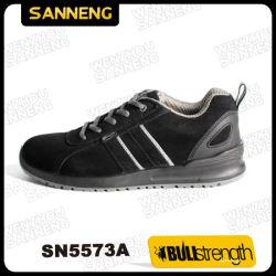 S1P Standard Deporte Zapatos de seguridad gamuza de cuero con suela de PU Calzado Calzado de seguridad/SN5573