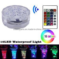 Voyant LED étanche submersible feux de la piscine avec télécommande
