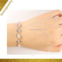 Monili d'imitazione del braccialetto dei monili di vendita 925 del Rhodium dell'oro del diamante d'argento caldo della CZ per le signore