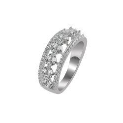 جديدة تصميم 925 [سترلينغ سلفر ودّينغ] إلتزام نطاق حلق مجوهرات