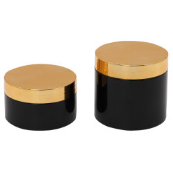 200ml Pet Plastic Hair Wax Mask Gel Cream Jar Met Zwarte Lip