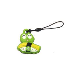Stringa Telefonica Personalizzata In Silicone Keychain In Pvc Multi-Colore Di Alta Qualità