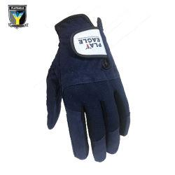 De LinkerHandschoenen van de Misstap van de Doek van Microfiber van mensen met de Handschoenen van het Golf van het Ontwerp van het Embleem van de Douane
