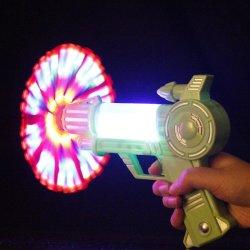 Светодиодный индикатор красочный музыкальный ветряной мельницы пистолет детей игрушки в области образования