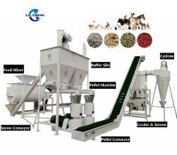 1-3t/H農業機械の飼料の機械工場の家禽の動物の鶏の餌の餌機械価格