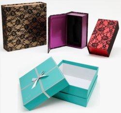 Het aangepaste Afgedrukte Met de hand gemaakte Vakje van de Gift van het Document van Juwelen voor Verpakking