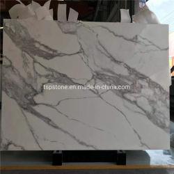 Calacatta Nano cristallisé panneau en verre avec de grandes dalles de pierre