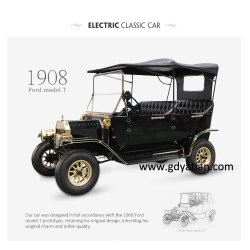 Chariot de golf classique de haute performance 6 Buggy Voiture électrique passager avec la couleur noire
