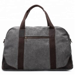 Crazy Horse Leather Trimの環境に優しいVintage Washed Canvas Travel Duffle Bag