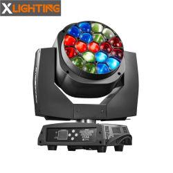 Occhi dell'ape dello zoom 19X15W LED di rotazione di effetto della discoteca del DJ che spostano illuminazione capa della fase chiara
